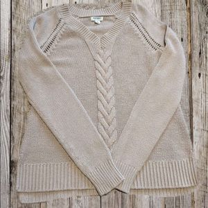 ♦️5 for $25♦️Old Navy Tan Knit Braided Sweater
